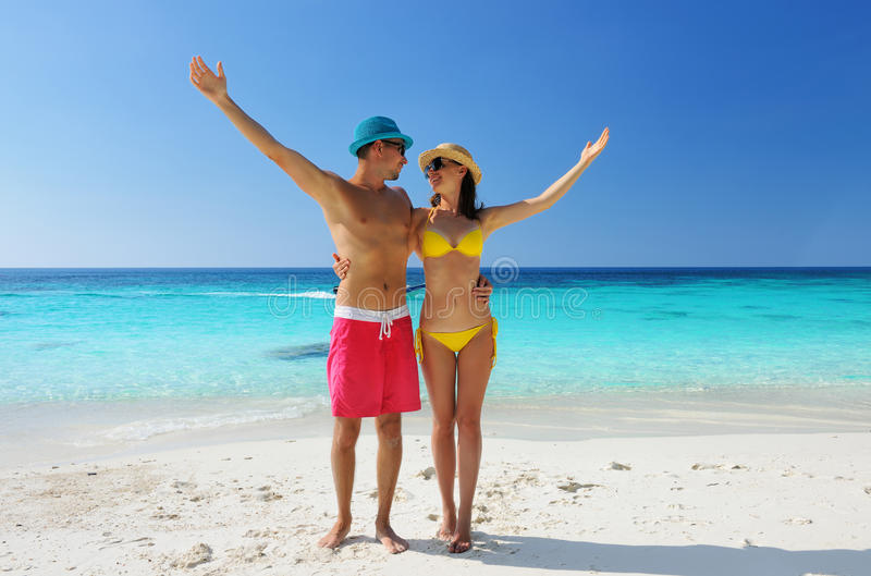 Download Couple on a beach stock image. Image of tourism, couple - 29908503