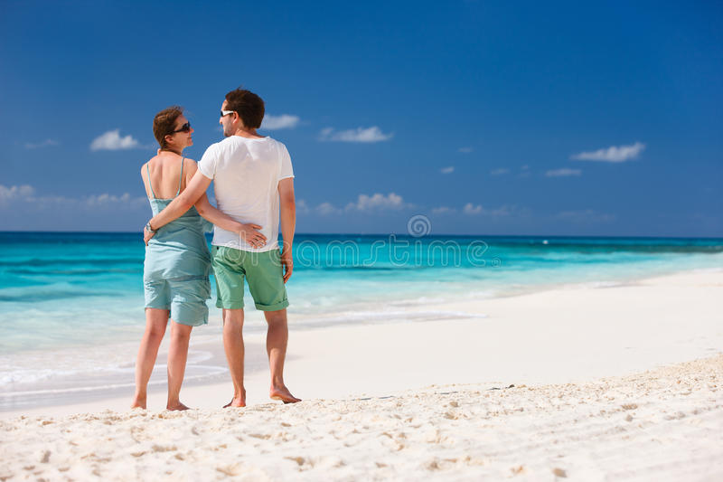 Download Couple on a tropical beach stock photo. Image of adult - 30525206