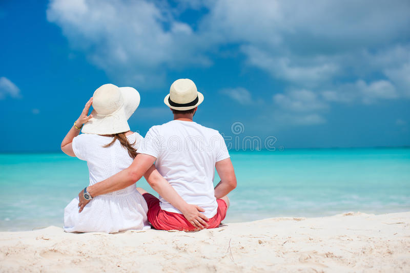 Download Couple at tropical beach stock image. Image of blue, relaxation - 33331625