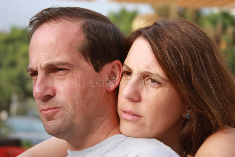 Couple in trouble stock images