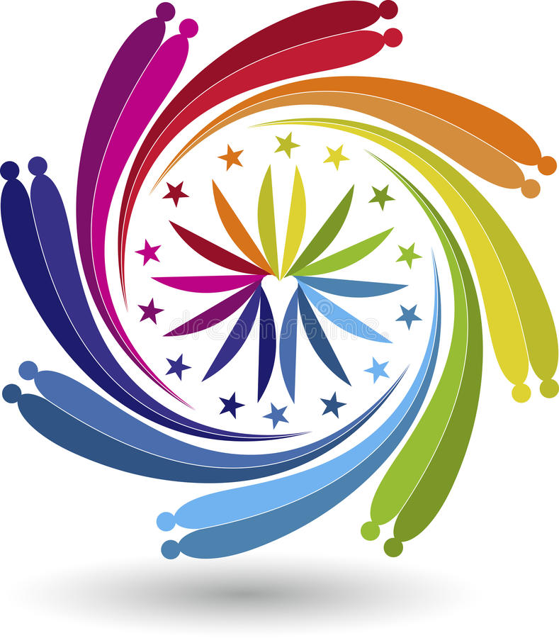 Download Couple twirl logo stock vector. Illustration of circular - 41790328