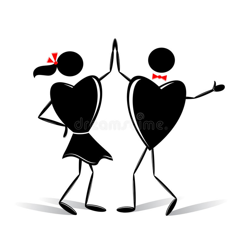 Couple. royalty free illustration