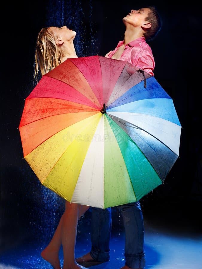 Download Couple  Under  Rain With Umbrella . Stock Image - Image: 30465537