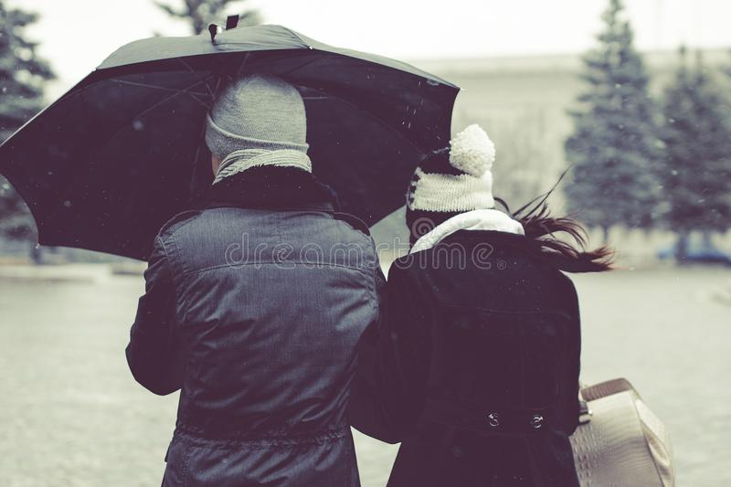 Couple Under Umbrella Free Public Domain Cc0 Image