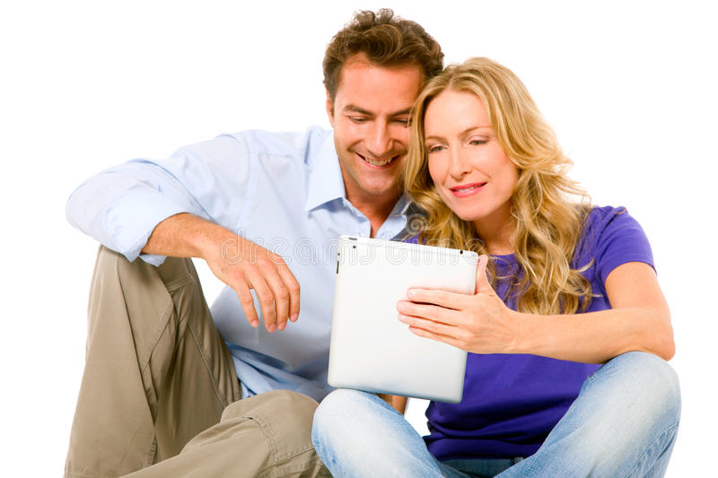 Download Couple Using Digital Tablet Stock Image - Image: 22516329