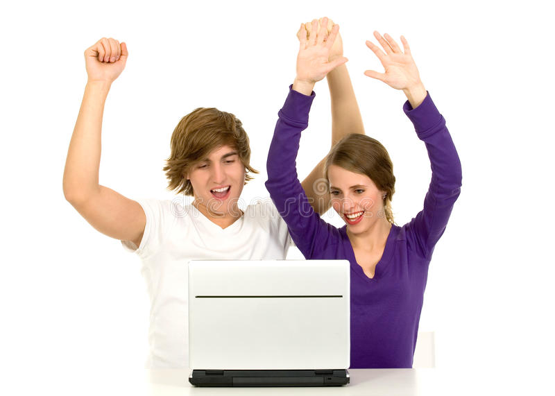 Download Couple Using Laptop Royalty Free Stock Photo - Image: 12050245
