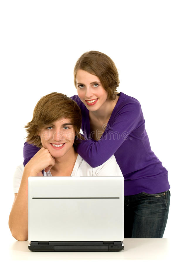 Download Couple using laptop stock photo. Image of shot, casual - 12056664