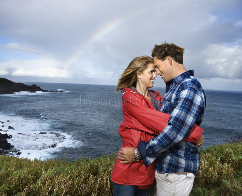 Couple vacationing in Maui, Hawaii. stock photography