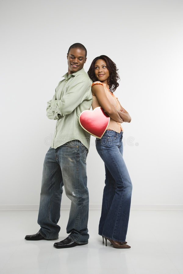 Download Couple With Valentine Heart Royalty Free Stock Images - Image: 2425429