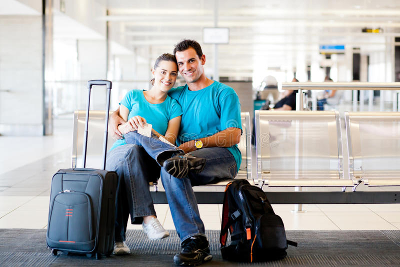 Download Couple waiting for flight stock image. Image of lover - 23913917