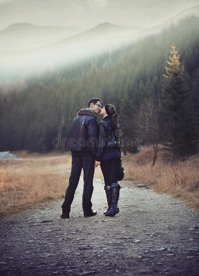 Download Couple on walk stock image. Image of casual, female, date - 17041951