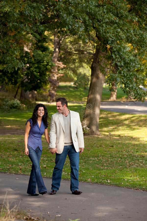 Download Couple Walk Park stock image. Image of hold, engage, outside - 11753343