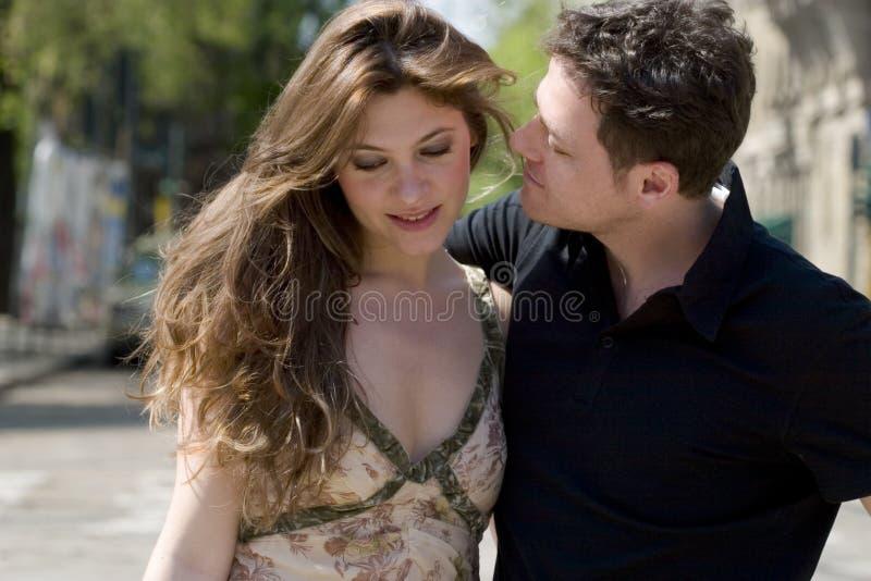 Couple-walking-02 royalty free stock image