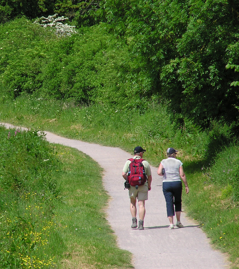 Download Couple walking stock photo. Image of walking, couple, backpacking - 131224