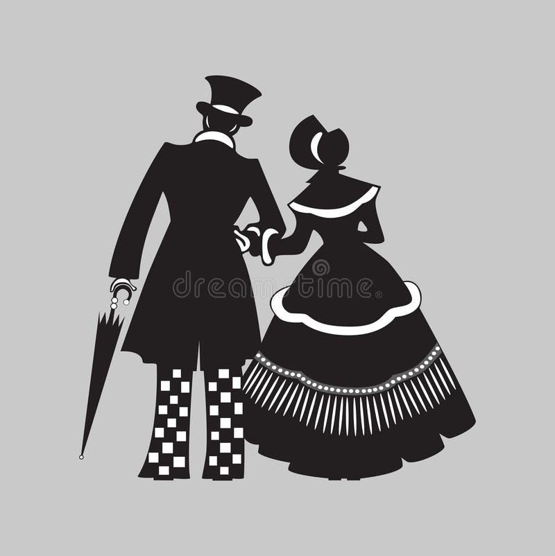Couple Walking. Royalty Free Stock Photos