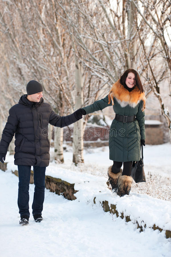 Download Couple walking stock image. Image of outdoor, frost, happiness - 23061033