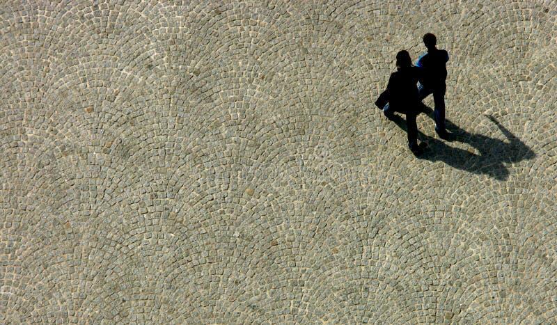 Couple walking stock image