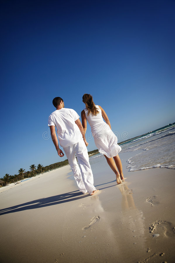 Download Couple walking on beach stock photo. Image of caucasian - 8127630