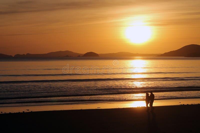 Download Couple Walking Beach At Sunset Stock Image - Image: 26529127