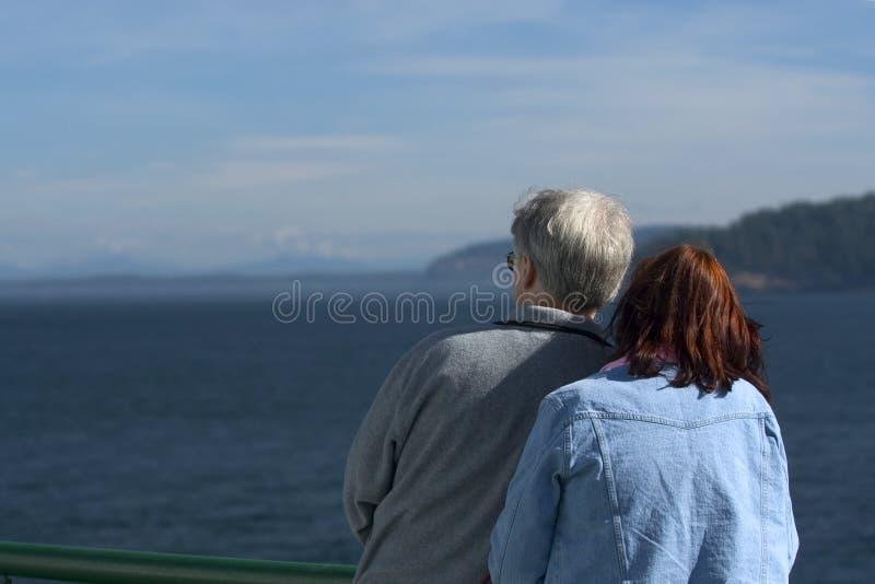 Couple watching ocean