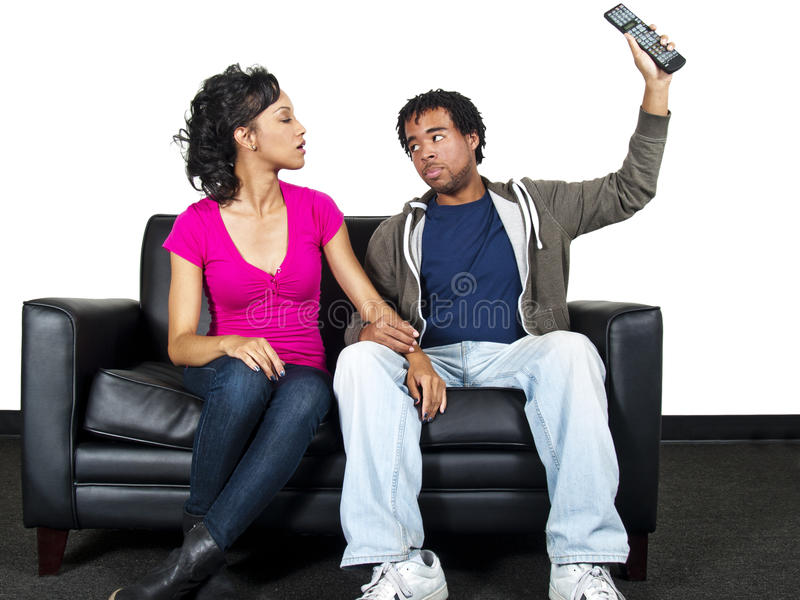 Download Couple watching tv stock image. Image of female, relaxation - 24689701