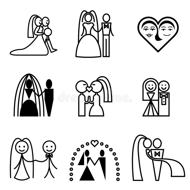 Download Couple wedding stock illustration. Image of silhouette - 24534489