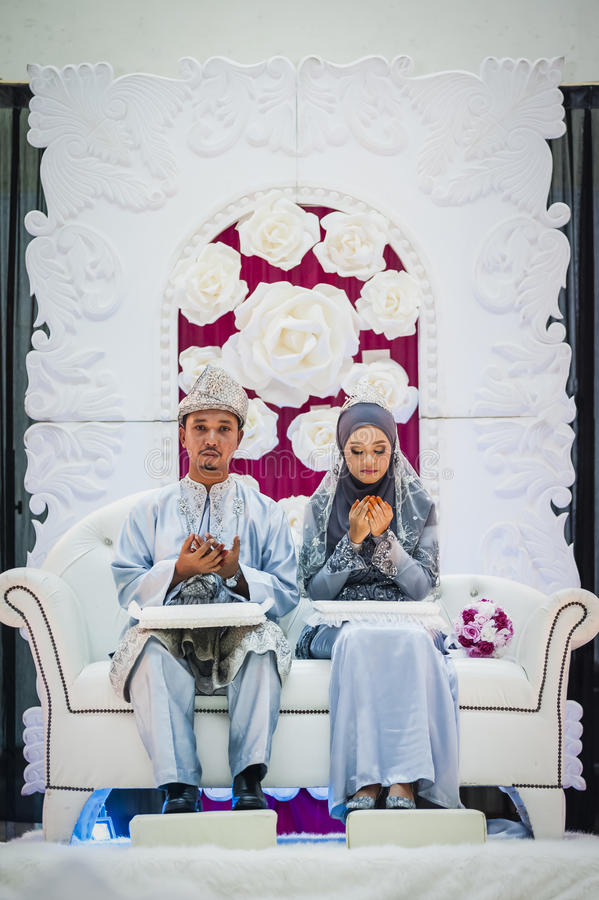 Couple on wedding day royalty free stock photos