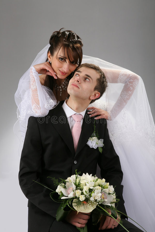 Couple wedding portrait royalty free stock photos
