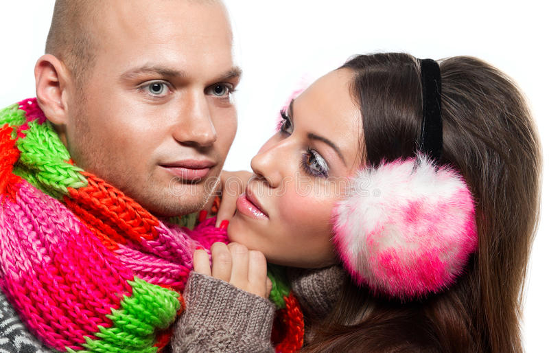 Download Couple in winter clothing stock photo. Image of partnership - 28229534