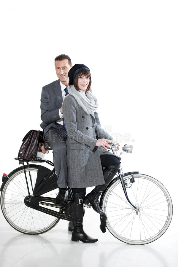 Free Couple With Bicycle Stock Images - 17809244