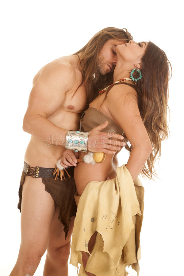 Free Couple Woman Indian Man Loincloth Hand Back Royalty Free Stock Images - 35961899