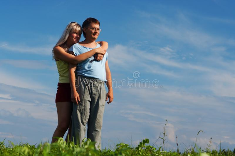 Couple woman and man stock photo