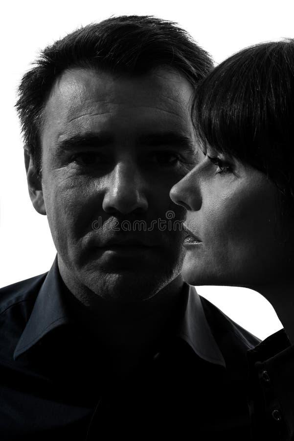 Download Couple Woman Man Close Up Portrait Silhouette Stock Image - Image: 28443559
