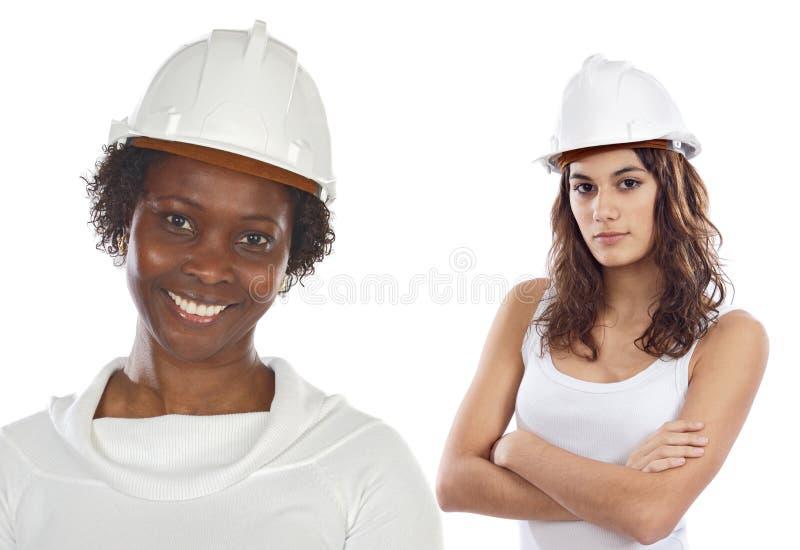 Couple of women engineers stock photo
