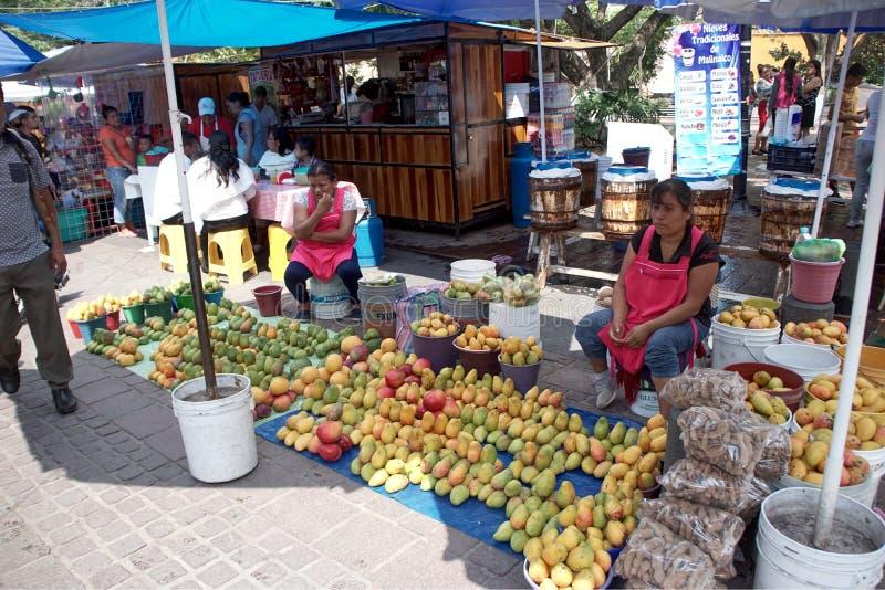 Fruit seller women stock photo