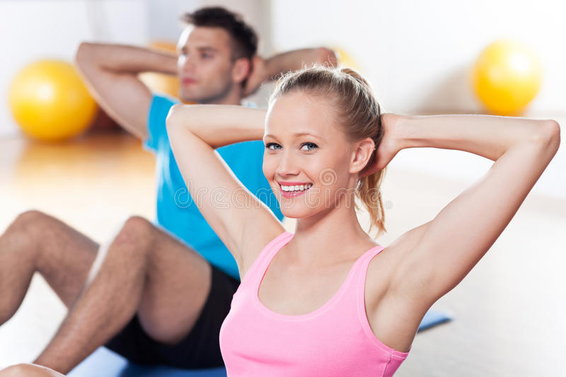 Download Couple working out stock photo. Image of adult, exercise - 25548072