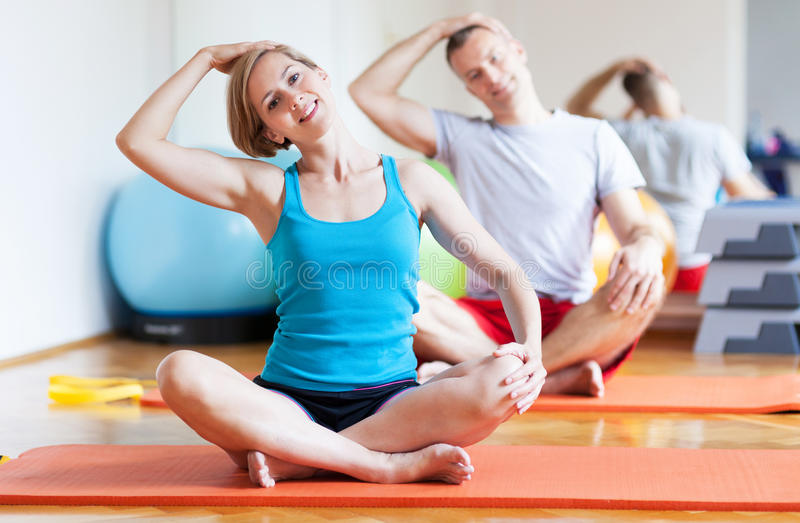 Download Couple working out stock image. Image of working, smile - 25962363