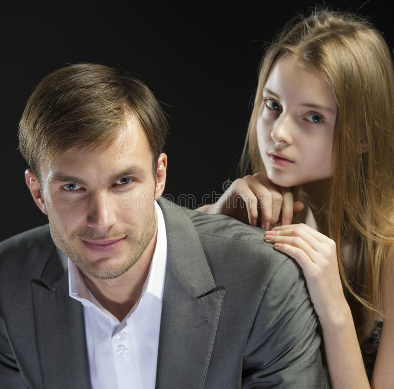 Couple of young people royalty free stock image