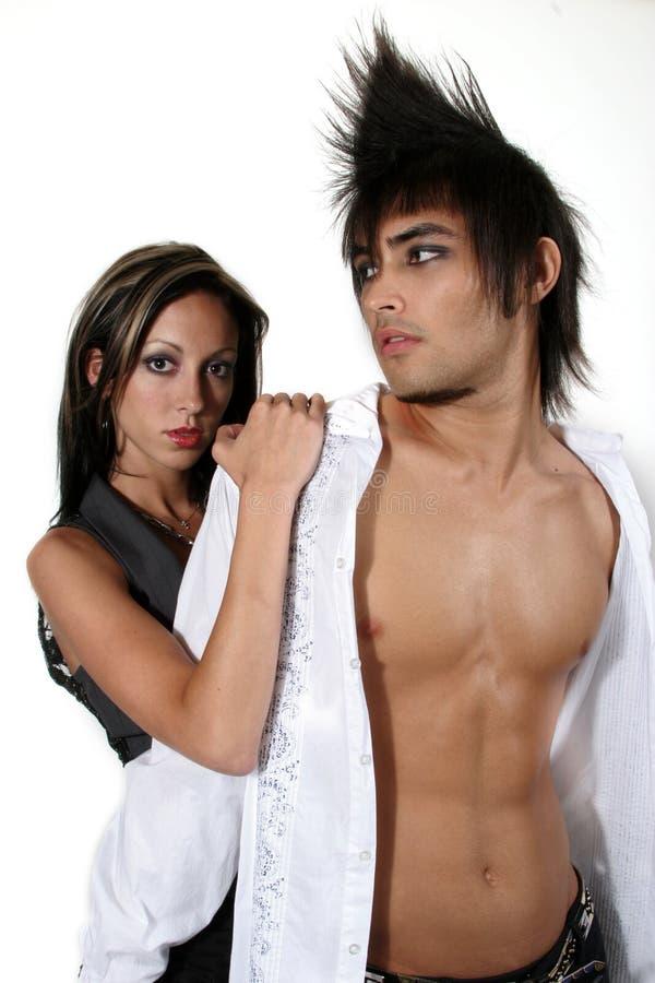 Couples à la mode attrayants photo stock