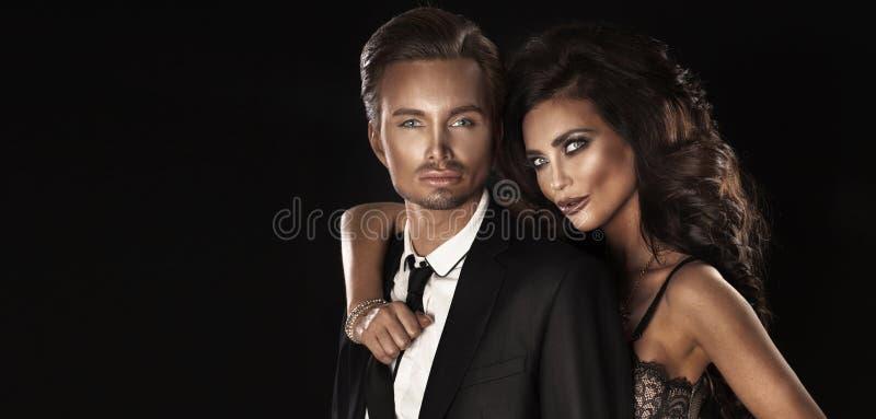 Couples élégants beaux photographie stock