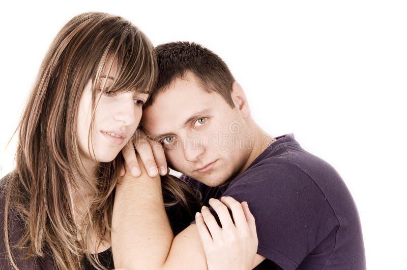 Couples émotifs images stock