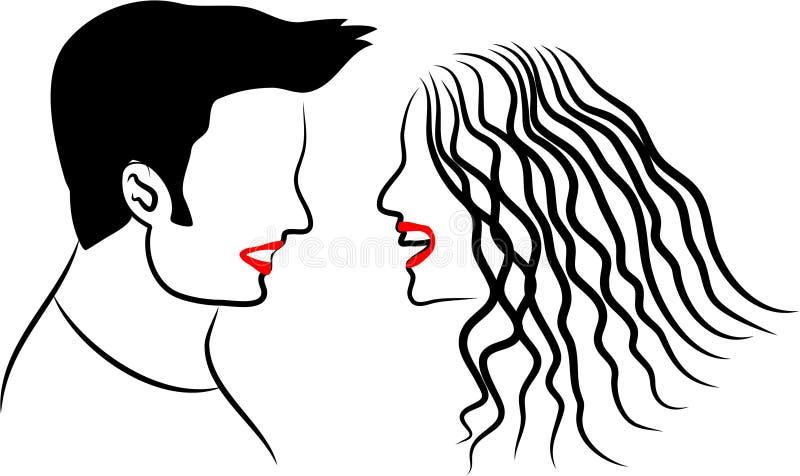 Couples illustration libre de droits