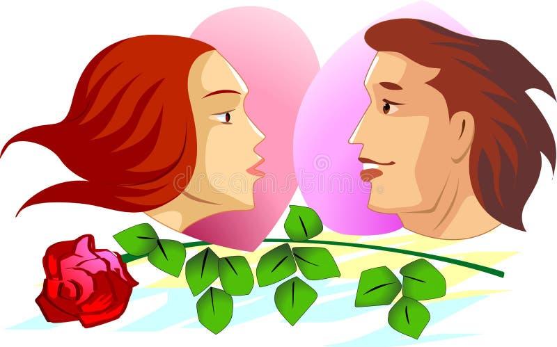 Couples stock illustration