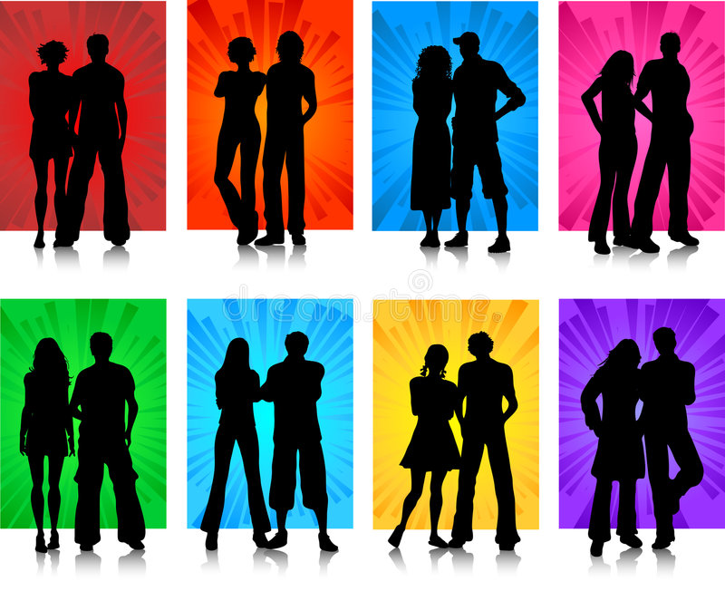 Couples vector illustration