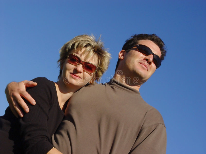 Download Couples photo stock. Image du lifestyle, étreindre, bleu - 61628