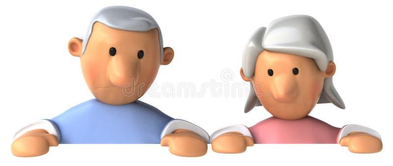 Couples aînés illustration libre de droits