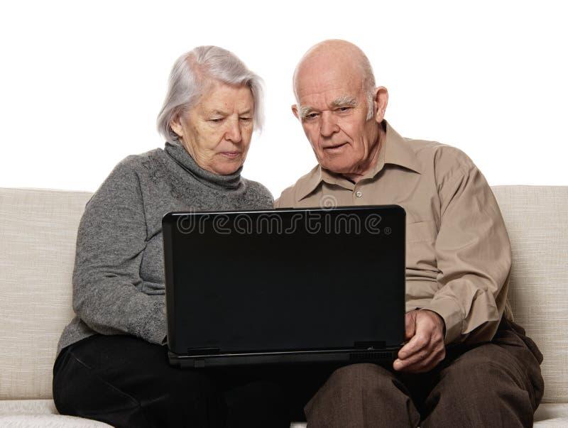 Couples aînés   photographie stock