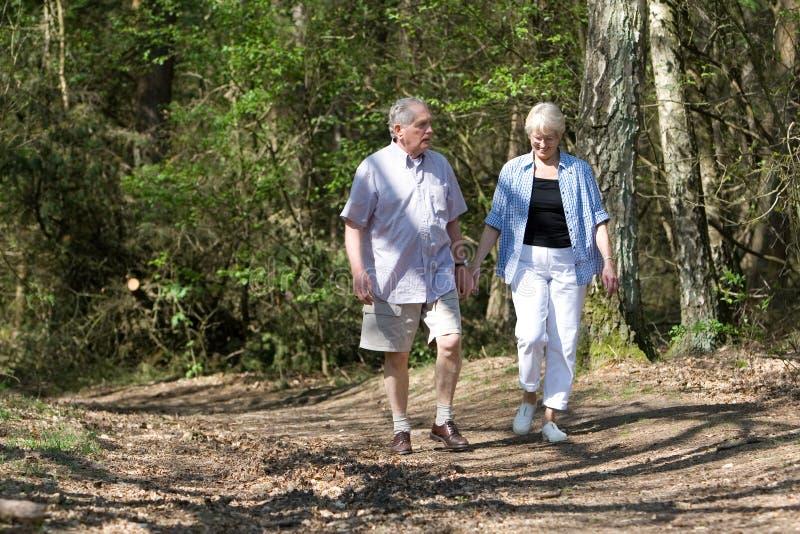 Couples aînés flânant photos stock