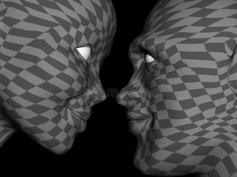 Couples abstraits dans l'amour illustration stock