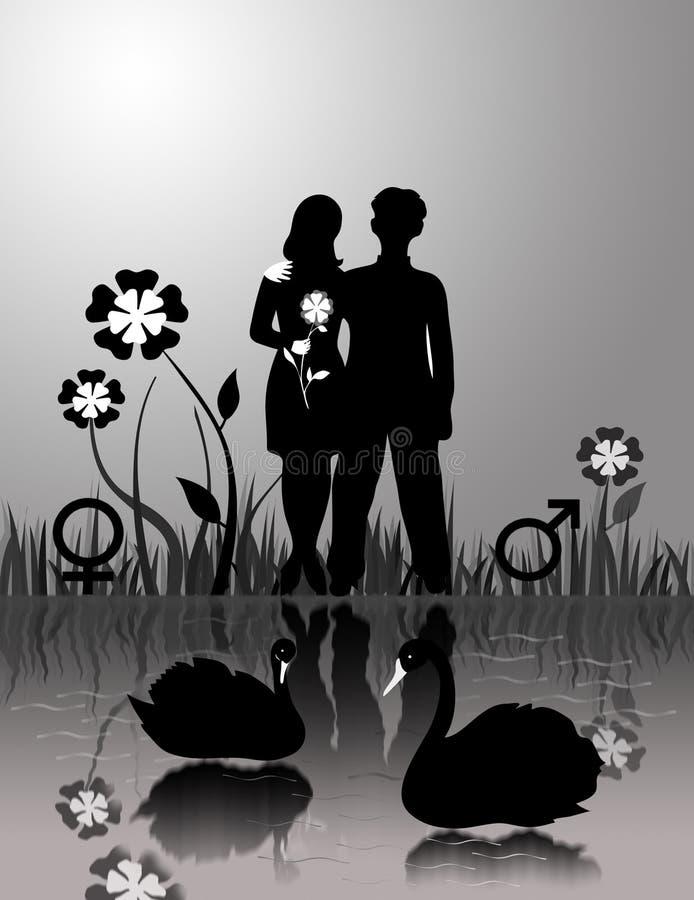 Couples affectueux illustration de vecteur